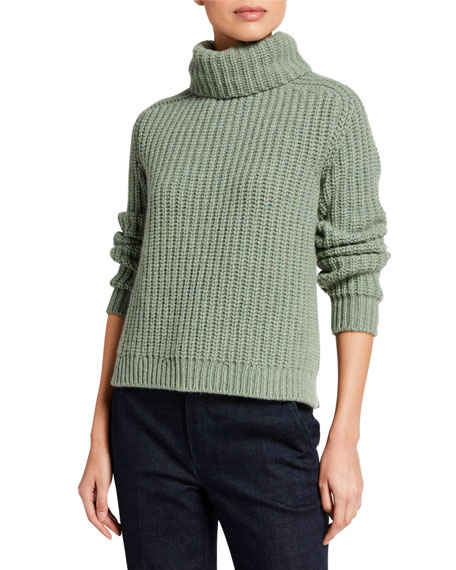 Image 1 of 2: Loro Piana Cashmere Chunky Turtleneck Sweater