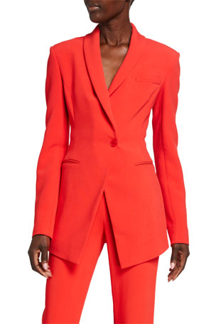 CUSHNIE Crepe Slim-Fit Blazer Jacket