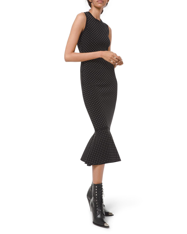 Michael Kors Womens Black Ruffled Tank Bodycon Dress XL