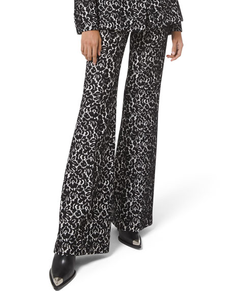 Image 1 of 2: Michael Kors Collection Brooke Bonded Lace Side-Zip Pants