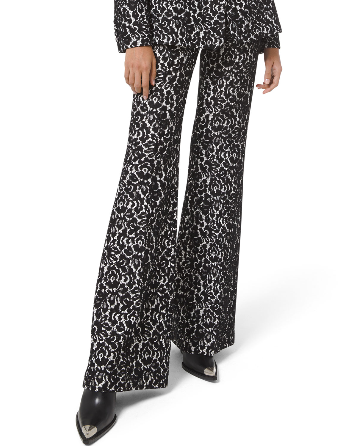 Michael Kors Collection Brooke Bonded Lace Side-Zip Pants
