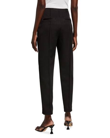 Image 2 of 3: Khaite Priyanka Crepe Crop Pants