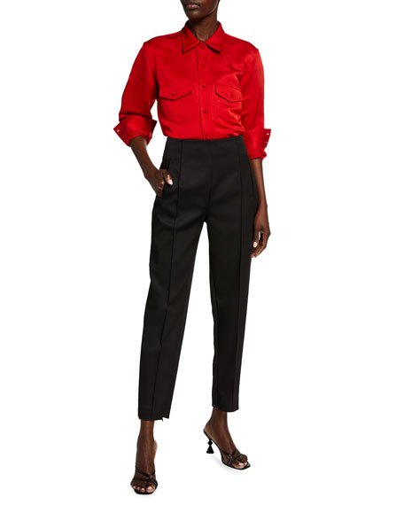 Image 3 of 3: Khaite Priyanka Crepe Crop Pants
