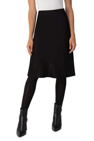 Akris punto A-Line Satin Skirt