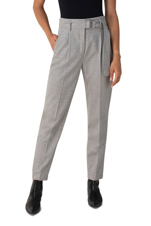 Akris punto Fred Belted Wool Pants