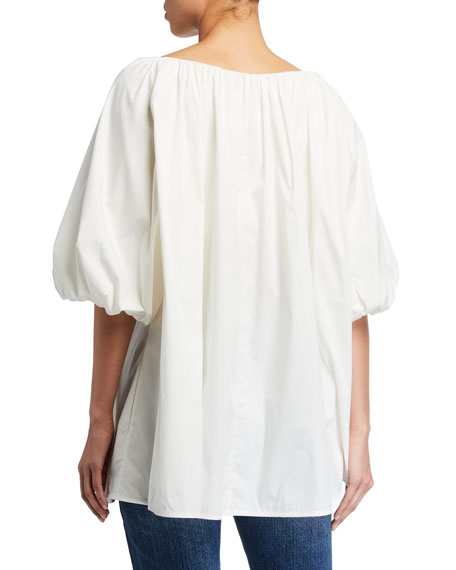 Image 2 of 2: Co Cotton Short-Sleeve Bubble Top