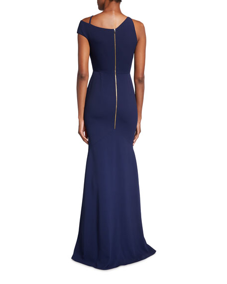 Image 2 of 3: Roland Mouret Galata Asymmetrical Cutout Gown