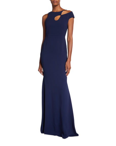 Image 1 of 3: Roland Mouret Galata Asymmetrical Cutout Gown