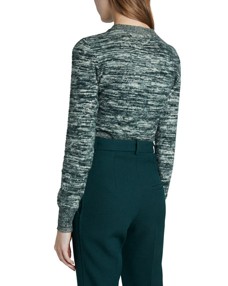 Image 2 of 2: Victoria Beckham Space-Dye Cotton Sweater