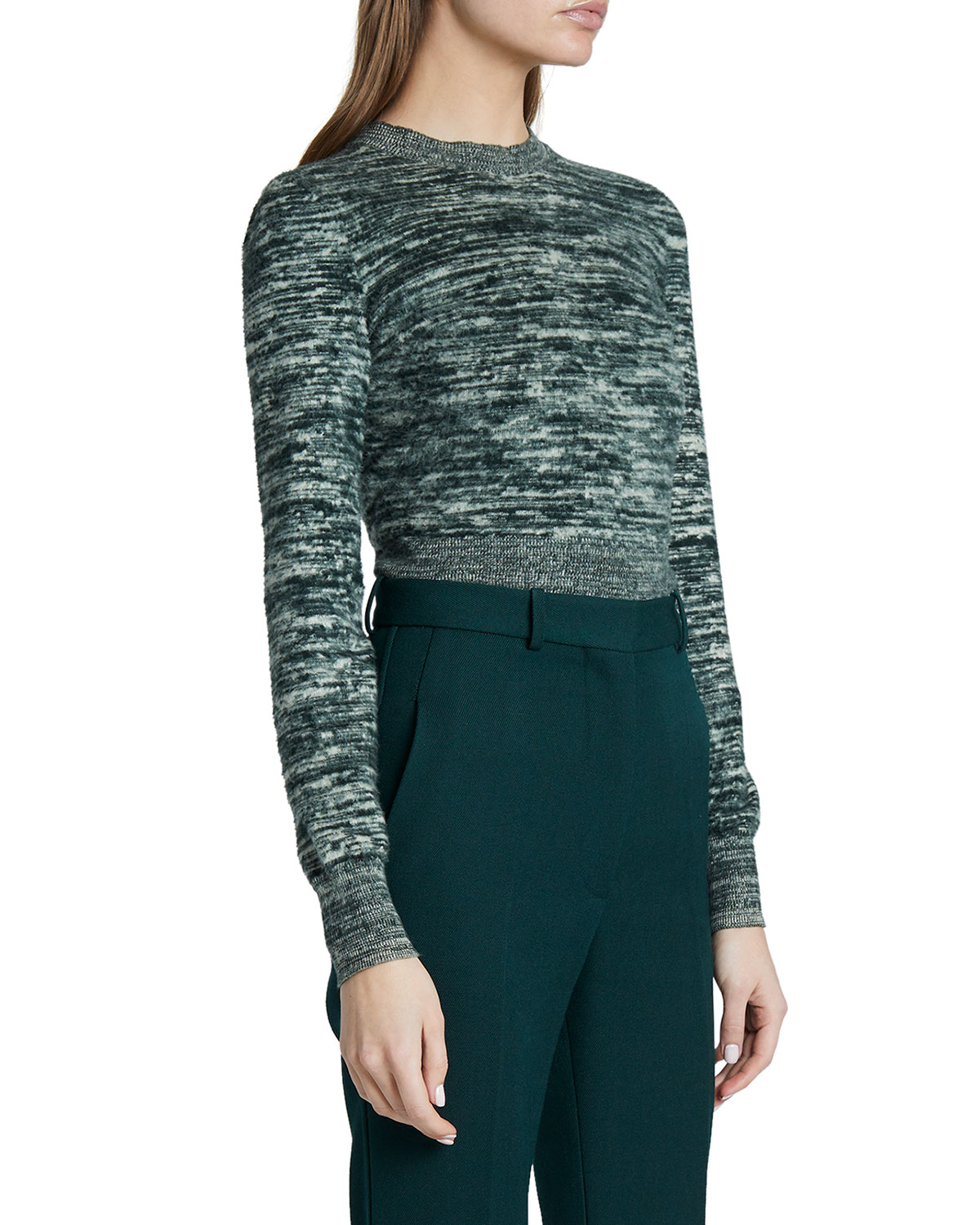 Victoria Beckham Space-Dye Cotton Sweater