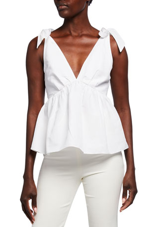 Brock Collection Ribes Woven Peplum Blouse