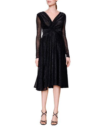 Talbot Runhof Colson Metallic Dress