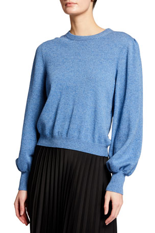 Brock Collection Wool-Cashmere Crewneck Sweater