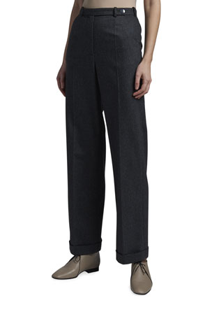 Giorgio Armani Stretch Flannel Cuffed Pants