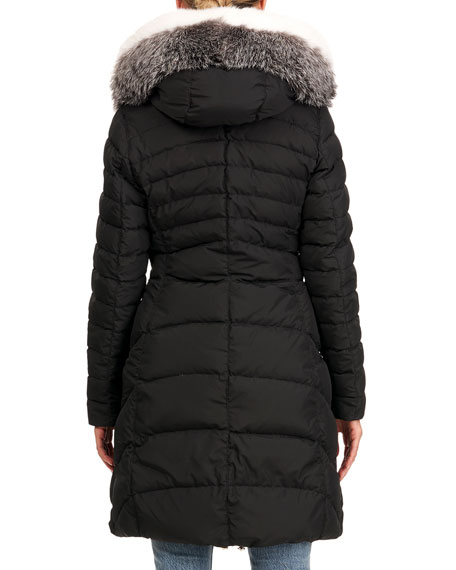 Image 2 of 4: Apres-Ski Fox Fur Hood Jacket