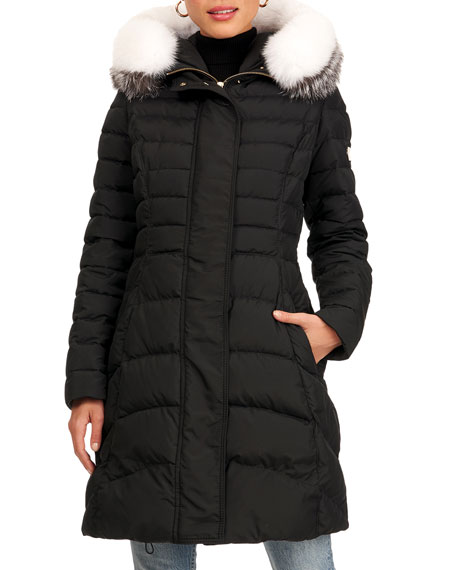 Image 1 of 4: Apres-Ski Fox Fur Hood Jacket