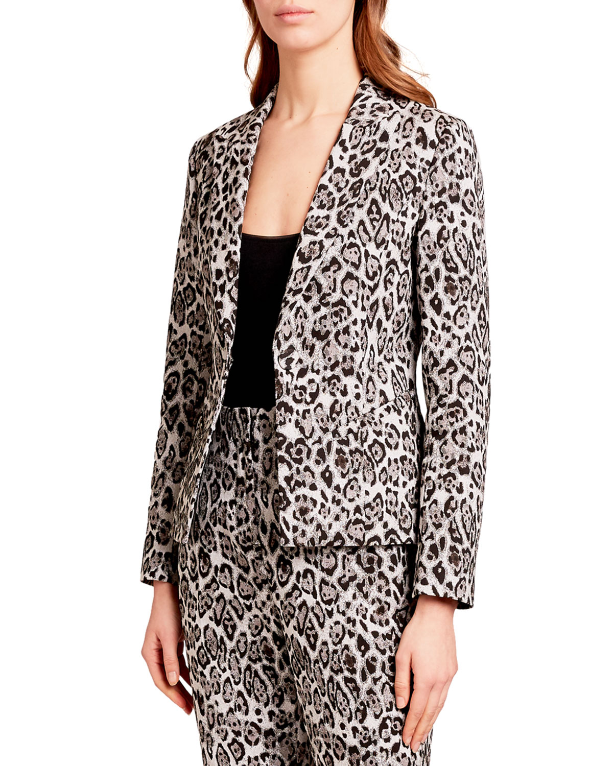 Erdem Iris Single-Breasted Leopard-Print Blazer