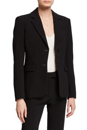 Altuzarra Crepe Button-Front Blazer