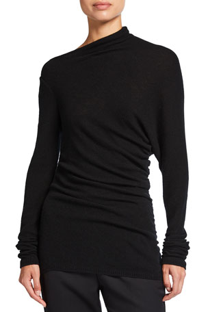 Agnona Draped Cashmere Sweater