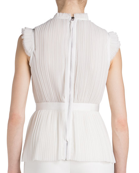 Image 2 of 2: UNTTLD Pleated Draped-Front Sleeveless Blouse
