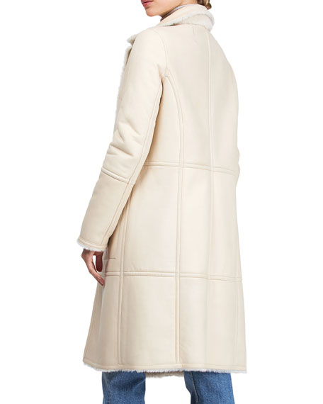 Image 2 of 4: Yves Solomon Short Shearling Lamb Coat