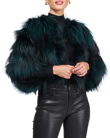 Image 1 of 4: Burnett Cropped Fox Fur Bolero