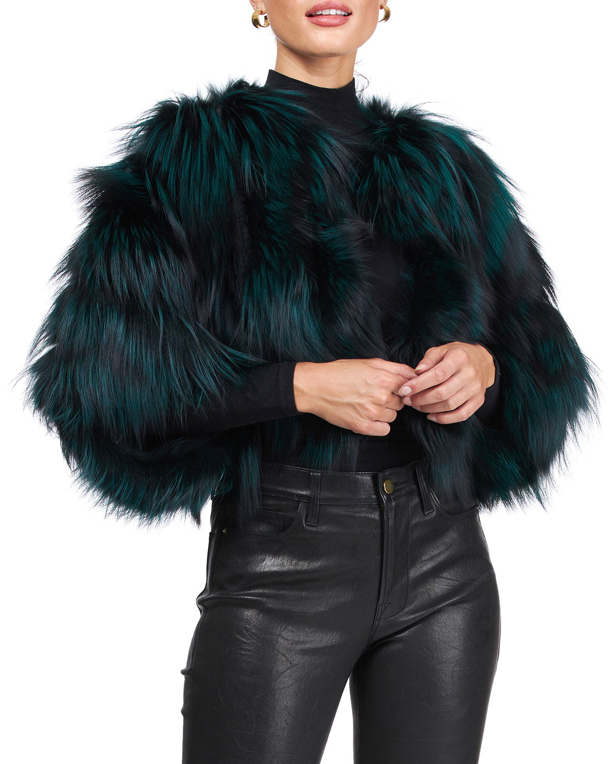 Burnett Cropped Fox Fur Bolero