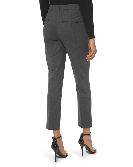 Image 2 of 2: Michael Kors Collection Samantha Cropped Stretch Wool Pants