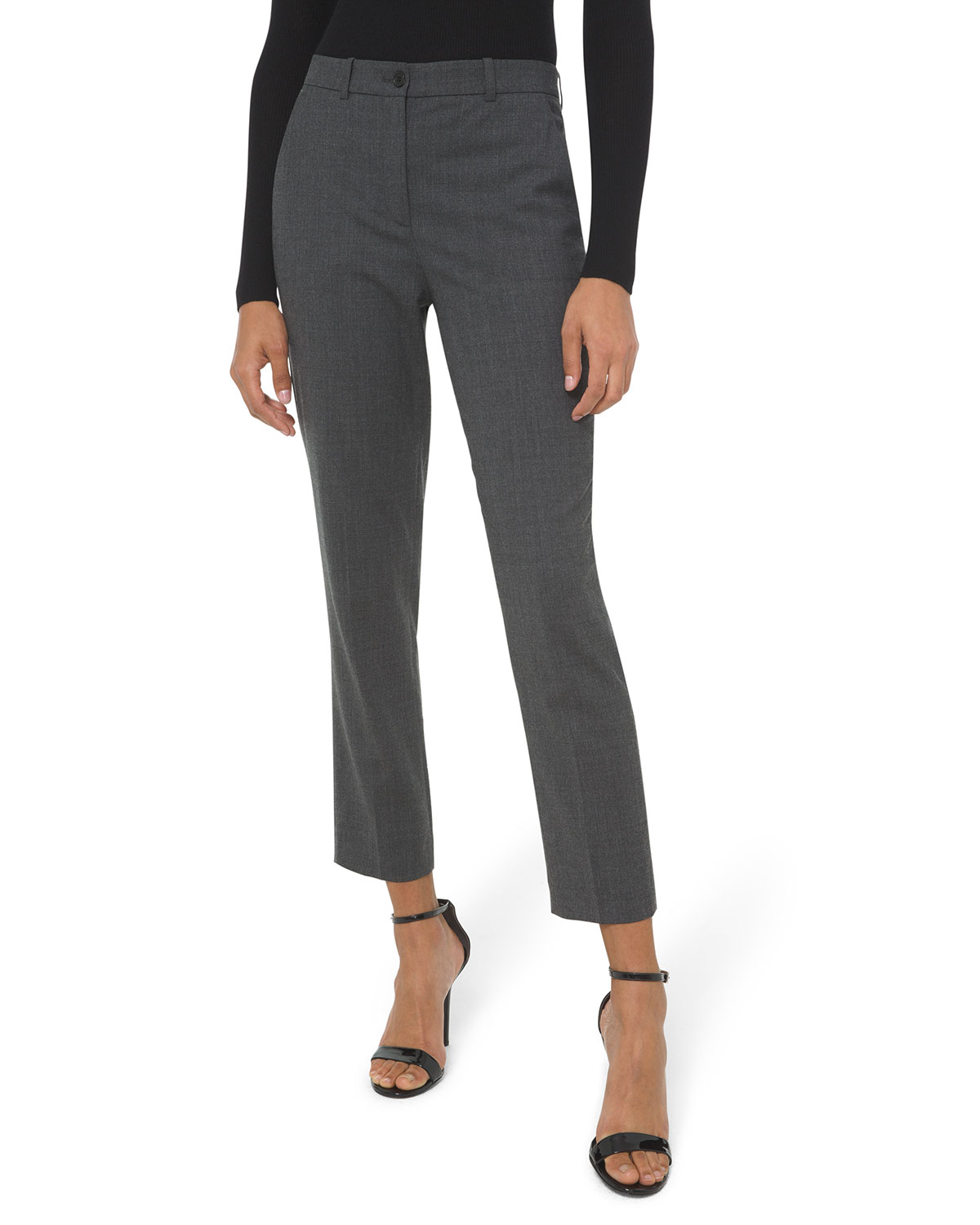 Michael Kors Collection Samantha Cropped Stretch Wool Pants