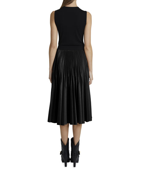 Image 2 of 2: Givenchy Contrast Pleated Skirt Dress