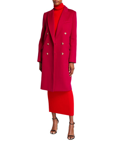 St. John Collection Double-Breasted Wool Coat