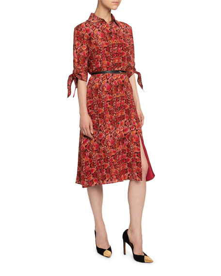 Image 1 of 2: Altuzarra Snake Print Shirtdress