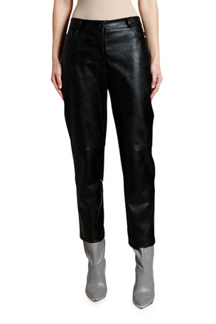 Stella McCartney Cropped Faux-Leather Pants