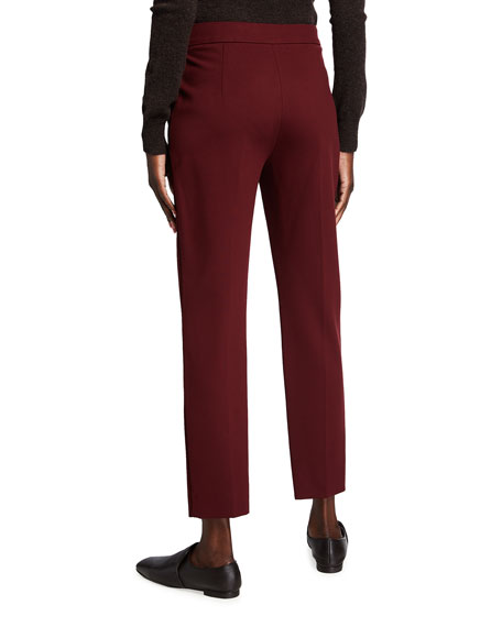 Image 2 of 3: Max Mara Pegno Slim Jersey Ankle Pants