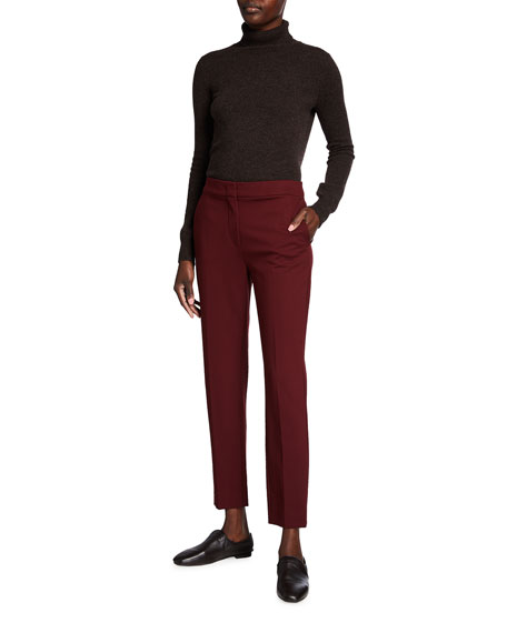 Image 3 of 3: Max Mara Pegno Slim Jersey Ankle Pants