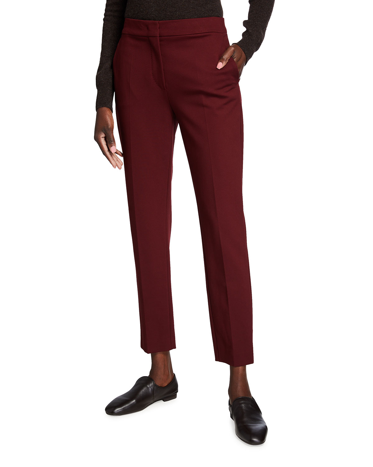 Max Mara Pegno Slim Jersey Ankle Pants