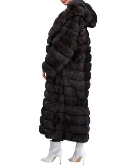 Image 2 of 4: Gianfranco Ferre Horizontal Long Russian Sable Coat