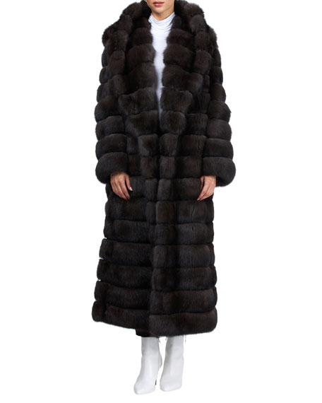 Image 4 of 4: Gianfranco Ferre Horizontal Long Russian Sable Coat