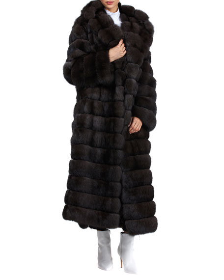 Image 1 of 4: Gianfranco Ferre Horizontal Long Russian Sable Coat