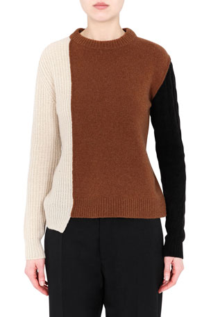 Marni Colorblock Cashmere-Blend Sweater