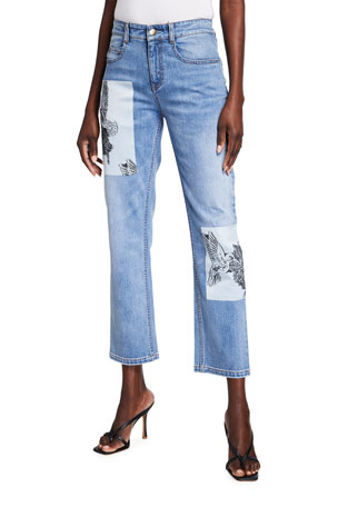 Hellessy Humming Straight Leg Patch Jeans