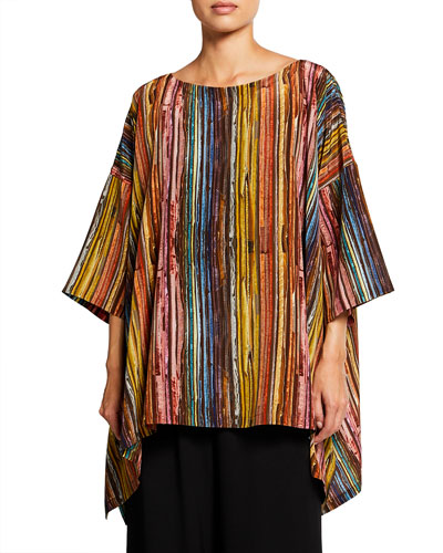 Eskandar Striped Silk Shirt