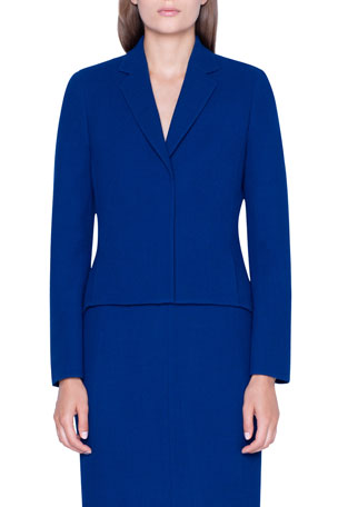 Akris Wool Peplum Short-Jacket