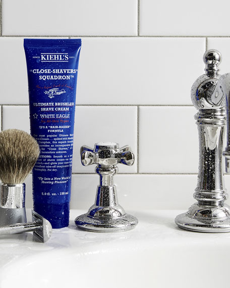 """Close-Shavers"" Squadron Ultimate Brushless Shave Cream, White Eagle, 8.4 oz."