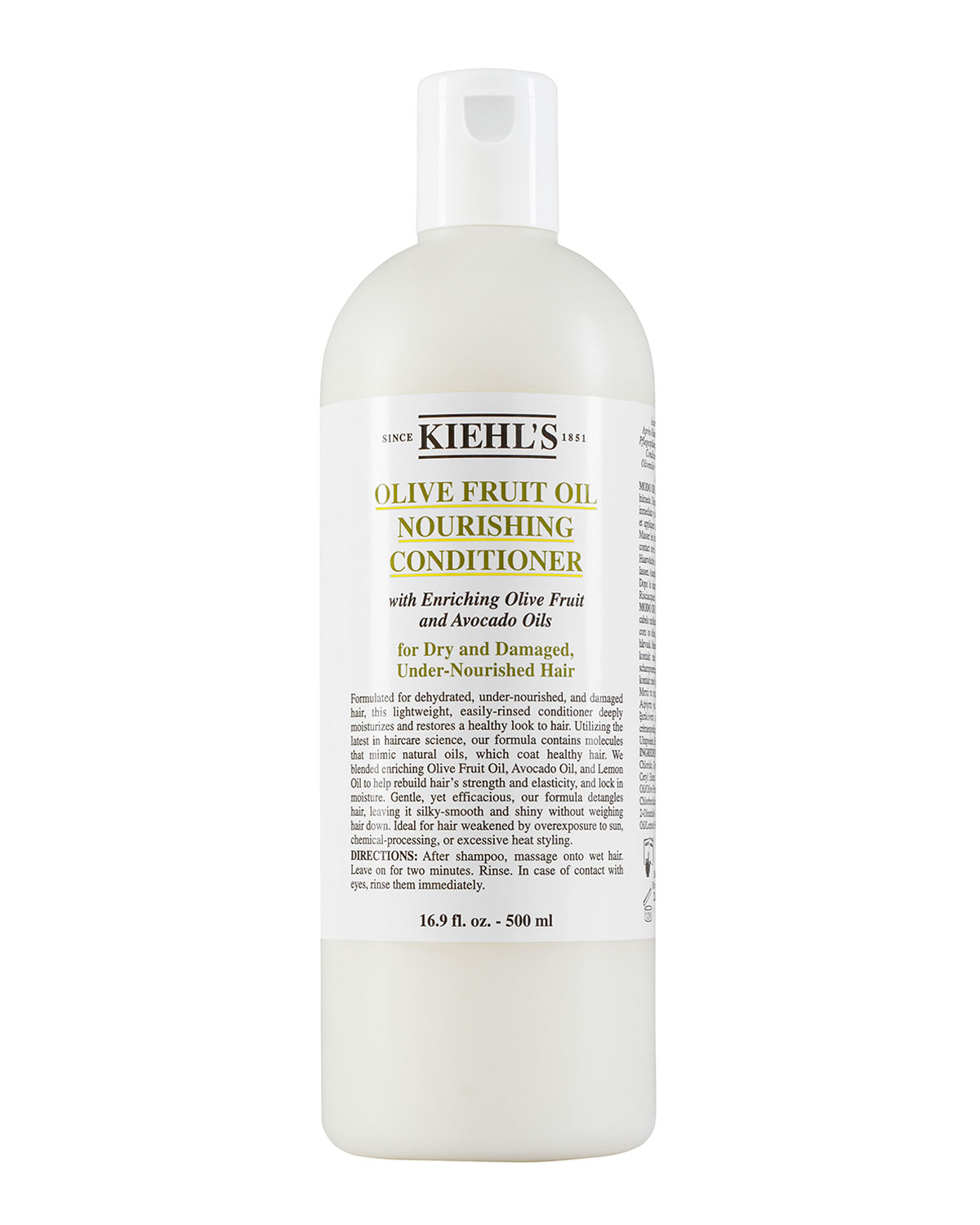 Kiehls Since 1851 Olive Fruit Oil Nourishing Conditioner 169 Oz Amino Acid