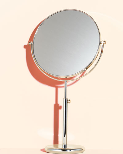 Frasco Mirrors Vanity Stand Chrome Double-Side Mirror
