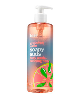 Bliss grapefruit aloe soapy suds body wash + bubbling bath