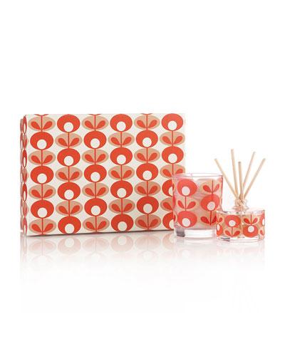 Orla Kiely Geranium Mini Candle & Diffuser Set