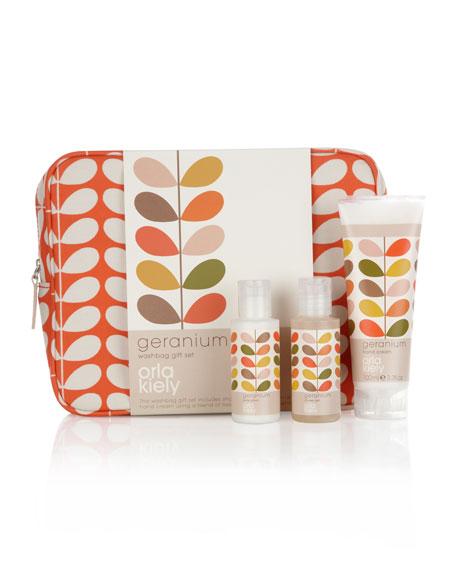 Geranium Washbag Gift Set