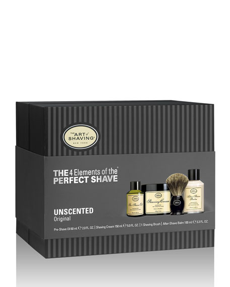 4 Elements of the Perfect Shave Full-Size Kit, Unscented